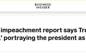 """美众议院司法委员会发布弹劾报告,指责特朗普挑起""""恐怖袭击"""",称要防范""""未来恶行"""""""