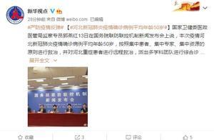 国家卫健委:河北新冠肺炎疫情确诊病例平均年龄50岁