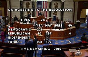 10名共和党众议员倒戈!特朗普成美国历史第一位任内两次被弹劾总统