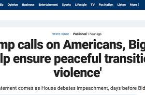 """快讯!特朗普通过福克斯发声:一定不能出现任何形式暴力,所有美国人要帮助""""缓解紧张局势"""""""