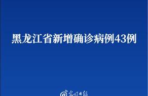 黑龙江省新增确诊病例43例