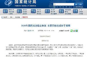2020中国GDP首超100万亿元 同比增长2.3%