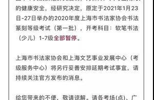 最新!上海多区寒假线下活动取消、考级暂停,培训机构做法不一