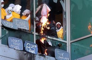 美国一监狱发生暴乱:115名囚犯砸玻璃纵火 打伤狱警