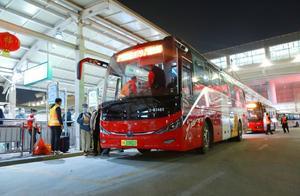 """广州南站""""夜班公交+如约巴士""""兜底输运保障"""