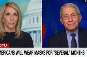 """福奇:死亡总数达50万是""""可怕的历史性里程碑""""2022年美国人可能仍需戴口罩"""