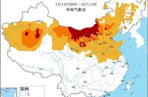本次强沙尘天气影响范围超380万平方公里 未来五天西北华北仍有沙尘