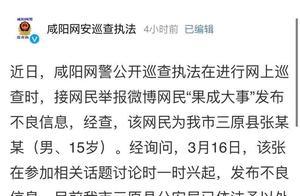 陕西15岁男子发布不良信息被依法处理
