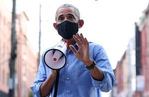 还得老将出马,奥巴马在费城拎起大喇叭:我15岁就比特朗普缴税多