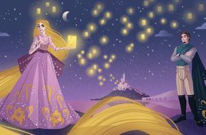 """迪士尼公主穿""""晚礼服""""真美!但宝嘉康蒂像鸡毛掸子、这是啥设计"""