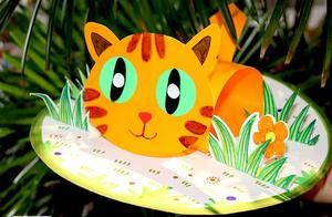 创意儿童画教程|草丛中的小猫
