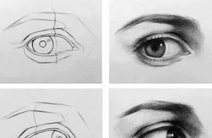 素描五官的详细步骤图,教你画基础素描五官