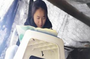 贵州深山顶上搭棚上网课!咱青岛这位女大学生很励志