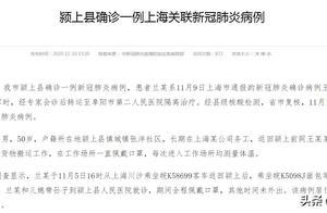 安徽阜阳新增1例本土确诊病例:系上海关联病例