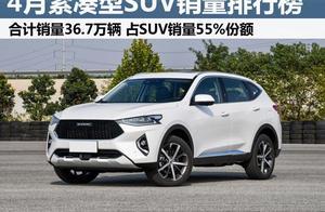 4月122款紧凑型SUV销量榜!奇骏第二,大众途岳超本田CR-V
