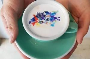 咖啡拉花图案创作,比手绘的还要精彩