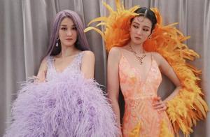 乔欣和姐姐cos卡戴珊姐妹,羽毛裙是奶奶做的,网友:成团出道