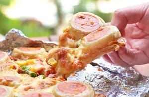 2张手抓饼,搞定拉丝披萨,比必胜客的还好吃