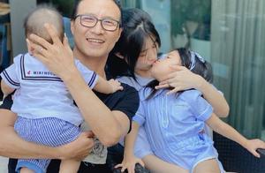 汪峰也秃了?油头发量少得可怜,三娃围绕庆父亲节小儿发量更抢镜