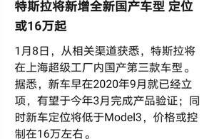 特斯拉预推出16万级别的国产车型,意预何在?