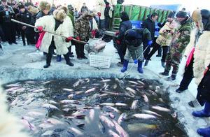 长岭湖冬捕冰钓旅游节启幕,头鱼8.88万元落槌成交
