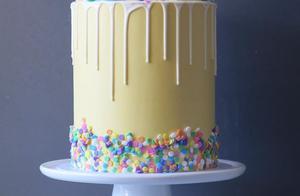 国外的私房蛋糕都用彩糖装饰蛋糕美爆了