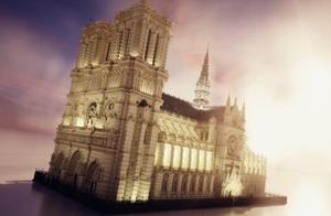国外《我的世界》牛人游戏中还原被烧毁的巴黎圣母院