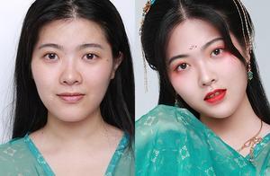 汉服女孩怎么能不会一款古风妆容呢?
