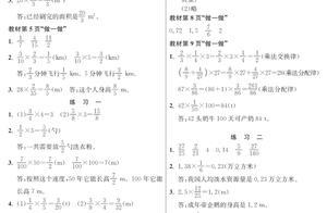 人教版数学六年级上册教材课后习题参考答案