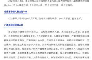 砍杀41名儿童和教师!广西李小文故意杀人案二审宣判:维持死刑