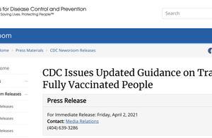 美国CDC重磅宣布:完全接种者可自由国内外旅行,无需新冠检测