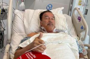 又做心脏手术?73岁施瓦辛格手上插满各种管子,已是老态尽显