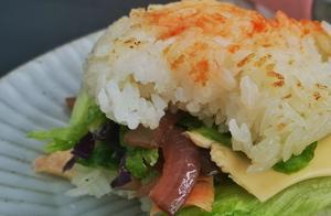 爱吃汉堡的看过来,教你快速做洋葱紫甘蓝米汉堡,一步到位吃起来