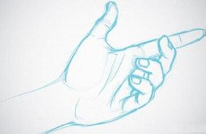 如何画好人物的手?只需掌握以下四点就轻松画出手部