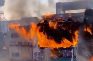 安徽卫视户外综艺突发火灾!现场曝光黑烟弥漫,道具被烧只剩空架