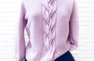 玩棒针20年,才知道套头毛衣可以这样编织,好时尚啊