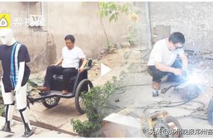 看呆!洛阳大叔花两年造机器人拉车散步:宝马车也不换
