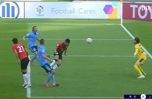 意外+离奇!先丢球李圣龙两头槌上港逆转,悉尼门将领离奇红牌