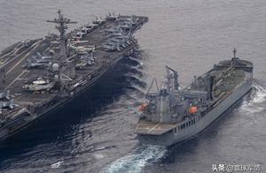 中美激烈交锋,罗斯福号一早进入南海,多艘军舰全程陪同