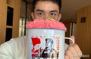 吴磊晒特大号杯子蛋糕庆生,模样帅气喜庆又搞笑