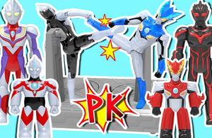 罗索奥特曼VS暗黑欧布!一起来玩超变奥特曼玩具!