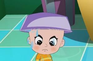 大头儿子接过小头爸爸的水盆,结果不小心全倒在了自己的头上!