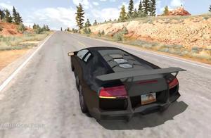 车祸模拟:头条最惨的兰博基尼!