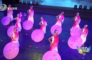 儿童舞蹈《烟花三月》,小朋友们手拿小伞,画面太漂亮了!