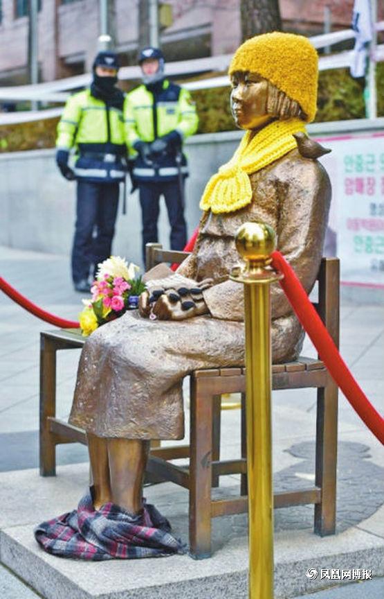 日驻韩使馆前慰安妇雕像困扰朴槿惠