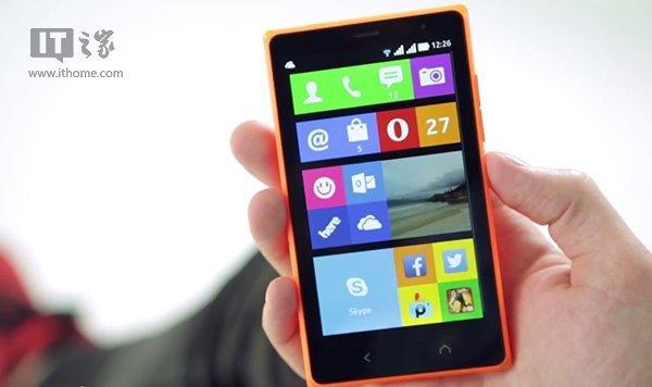 颇有大面积设计风格的Nokia X2广告宣传