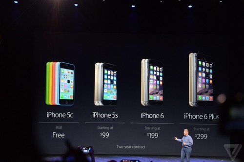 iPhone 6及Plus公布 上代5s和5c减价市场销售