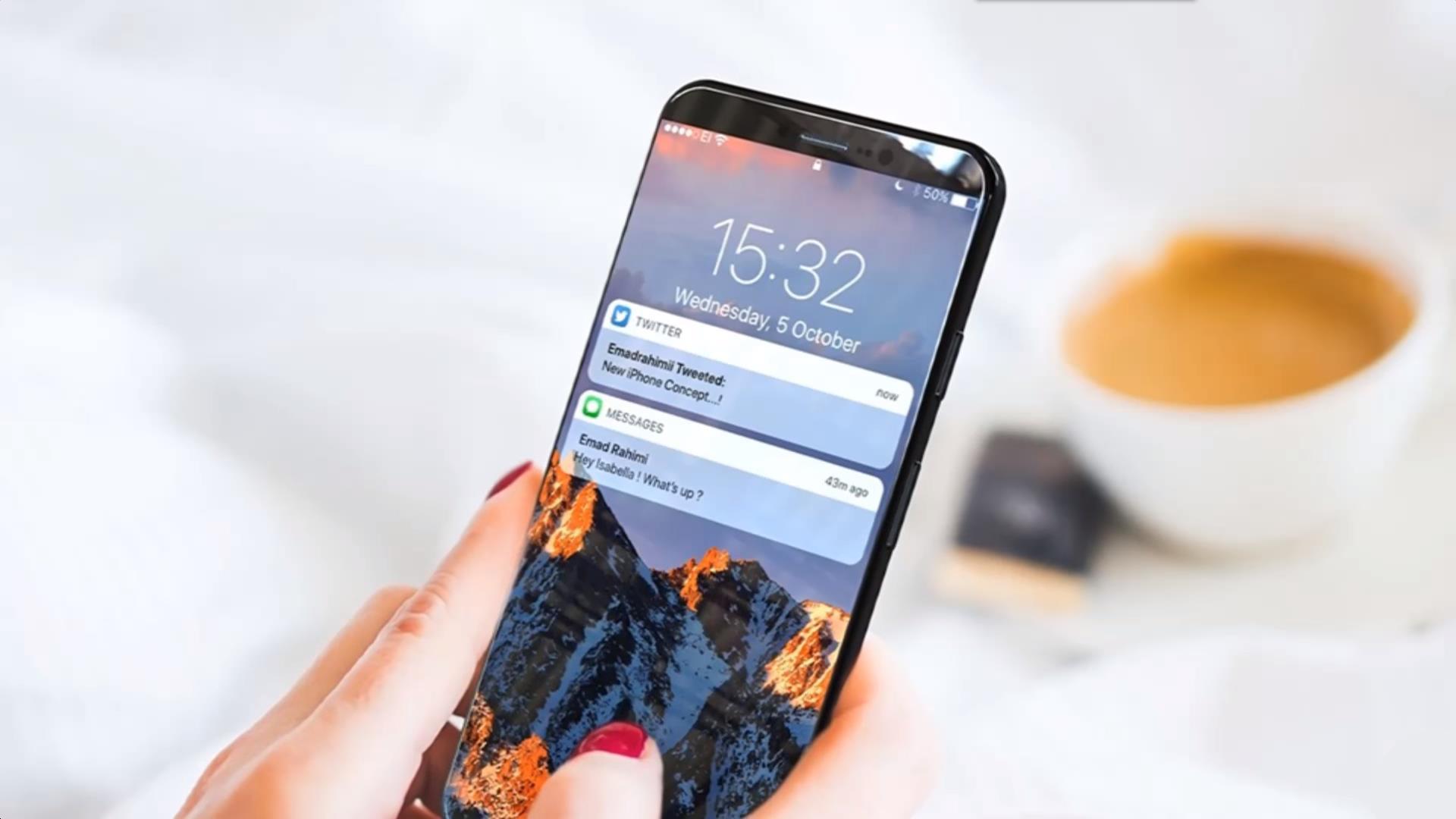 iphone8:配备全方位升級 全面屏手机 双摄像头