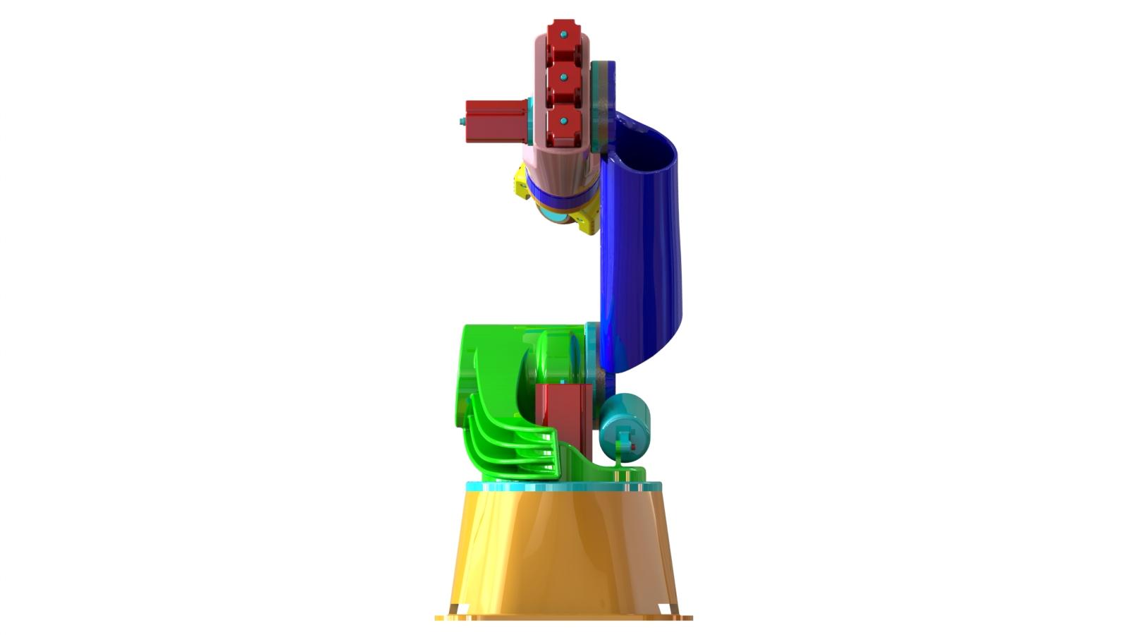 完整的6自由度机器人手臂3D建模图纸 SOLIDWORKS