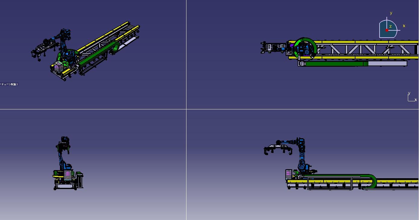 机器人移动传输台3D建模图纸 CATIA设计 附STP格式
